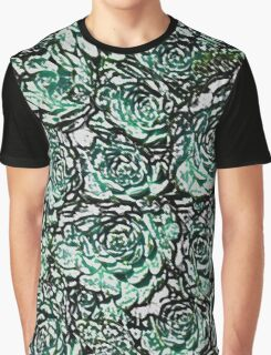 Abstract Green Nature Pattern Graphic T-Shirt