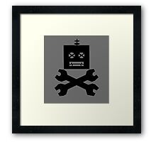 Robot Warning! Framed Print
