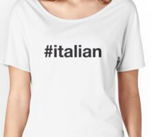 ITALIAN Women's Relaxed Fit T-Shirt