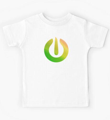 Green Power icon sticker plus more Kids Tee