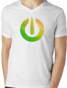 Green Power icon sticker plus more Mens V-Neck T-Shirt