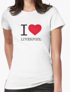 I ♥ LIVERPOOL Womens Fitted T-Shirt