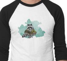 Double Exposure Racoon Men's Baseball ¾ T-Shirt