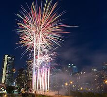 Calgary Canada Day Fireworks by MichaelJP