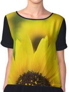 Yellow Sunflower Chiffon Top