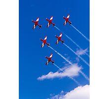 Aerobatics above Melbourne Photographic Print