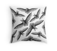 Bat Country - Black and White Throw Pillow