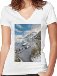 Broken Ice Women's Fitted V-Neck T-Shirt