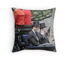 Prince William in a carriage Throw Pillow