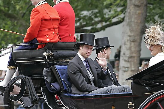 Prince William in a carriage by Keith Larby