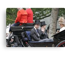 Prince William in a carriage Canvas Print