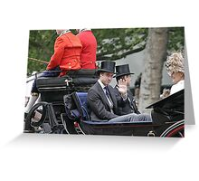 Prince William in a carriage Greeting Card