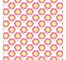 Simple baby pattern. Cute seamless wallpaper. Doodle little flower pastel background.  Photographic Print