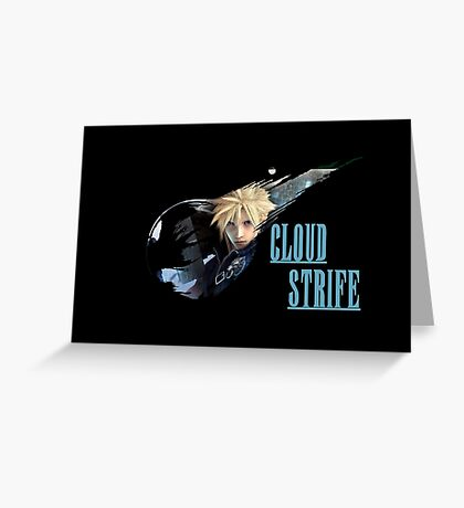 <FINAL FANTASY> Cloud Strife Greeting Card