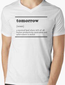TOMORROW-MOTIVATIONNAL Mens V-Neck T-Shirt