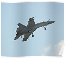 Swiss Air Force F-18 Hornet on Dirty Flypast Poster