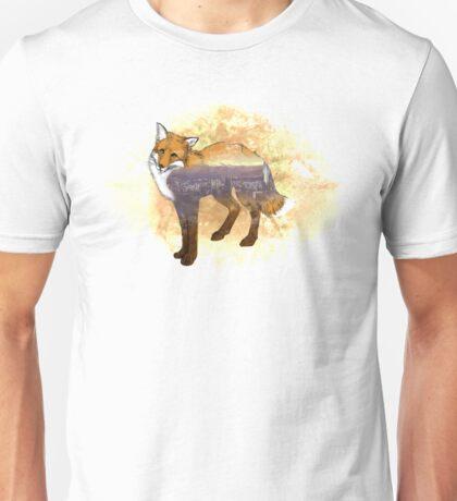 Double Exposure Fox Unisex T-Shirt