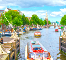 Waterways of Amsterdam Sticker