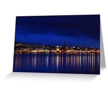 Night on the river Greeting Card