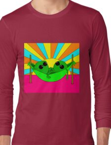 Trippy Peas in a Far Out Pod Long Sleeve T-Shirt