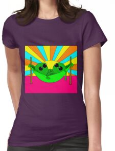 Trippy Peas in a Far Out Pod Womens Fitted T-Shirt