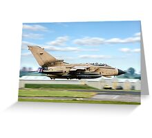 Tonka, Tonka, burning bright, full reheat, awsome sight. Greeting Card