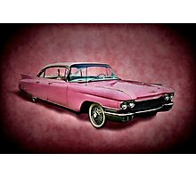 I love you for your pink cadillac Photographic Print