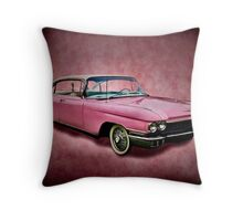 I love you for your pink cadillac Throw Pillow
