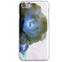 Blue Glitter Rose iPhone Case/Skin