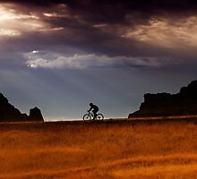 Sunrise over Badlands Window Trail  by Alex Preiss