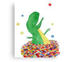 Tyrannosaurus just wants to have fun Canvas Print