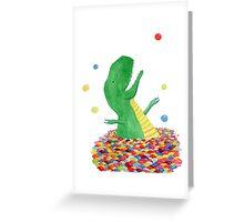 Tyrannosaurus just wants to have fun Greeting Card