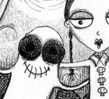 Odie and Wednesday  Sticker