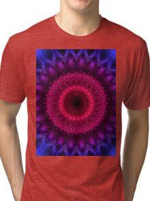 Mandala in pink, blue and violet colors Tri-blend T-Shirt