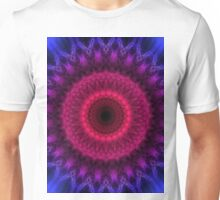 Mandala in pink, blue and violet colors Unisex T-Shirt
