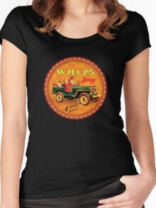 Willys post war Jeep Women's Fitted Scoop T-Shirt