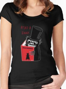 Read a Book with Mr. Babadook Women's Fitted Scoop T-Shirt