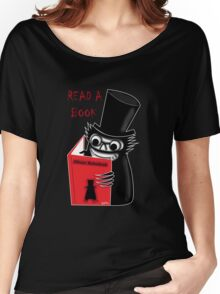 Read a Book with Mr. Babadook Women's Relaxed Fit T-Shirt