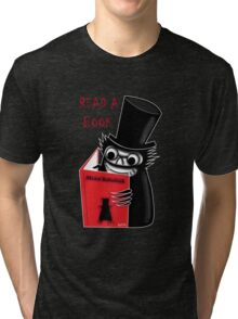 Read a Book with Mr. Babadook Tri-blend T-Shirt