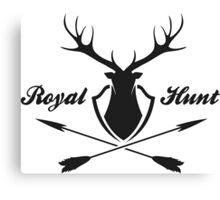Deer hunting emblem  Canvas Print