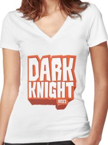Graphic Heroes: Knight Women's Fitted V-Neck T-Shirt