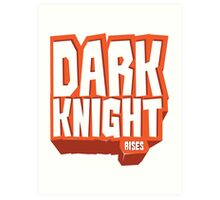 Graphic Heroes: Knight Art Print