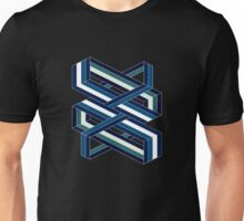 Isometric poetry - blue and green  Unisex T-Shirt