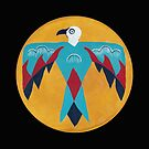 Native American Thunderbird - T-shirt by Barbara Applegate