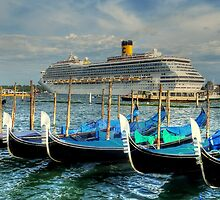 Boats everywhere - in Venice by TheaDaams