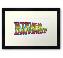 Back to the Futurniverse Framed Print