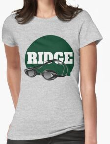 Ridge Swimming Cap and Goggles Womens Fitted T-Shirt