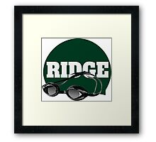 Ridge Swimming Cap and Goggles Framed Print