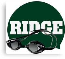 Ridge Swimming Cap and Goggles Canvas Print