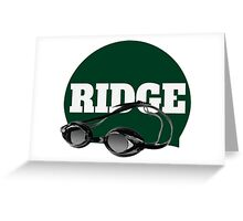 Ridge Swimming Cap and Goggles Greeting Card